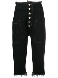 Marques Almeida Marques'almeida Cropped Fitted Trousers Black