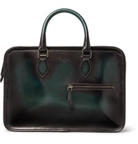 Berluti Un Jour Mini Leather Briefcase Green