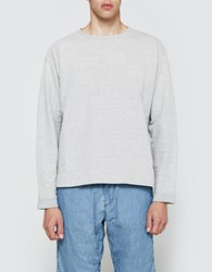 Beams Plus Crewneck L S Sweatshirt In Light Grey