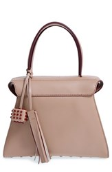 Tod's 'Twin' Leather Satchel Beige Ceramica