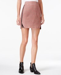 Maison Jules Houndstooth Print Mini Skirt Only At Macy's Egret Combo