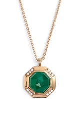 Melinda Maria 'Camilla' Necklace Green Gold