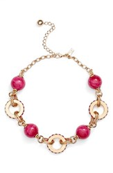 Kate Spade Women's New York Second Nature Statement Collar Necklace Pink Multi