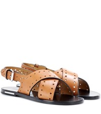 Isabel Marant Etoile Jerys Leather Sandals Brown