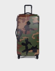 Herschel Large Trade Luggage In Woodland Camo