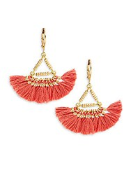 Shashi Lilu 18K Gold Plated Vermeil Sterling Silver Earrings Red