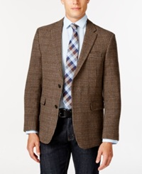Tommy Hilfiger Houndstooth Sport Coat Brown
