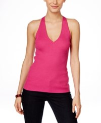 Inc International Concepts Ribbed Halter Top Only At Macy's Divine Berry