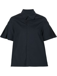 Alexandre Plokhov Pleated Sleeve Shirt Blue