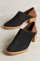 All Black Ava Colourblock Fold Back Booties Black Motif
