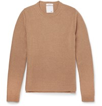 Valentino Slim Fit Studded Camel Sweater Brown