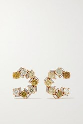 Suzanne Kalan 18 Karat Rose Gold Diamond Earrings
