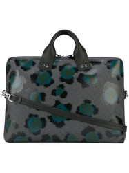 Kenzo Printed Laptop Bag Grey