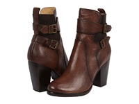 Frye Patty Gore Bootie Chocolate Buffalo Leather Cowboy Boots Brown