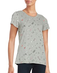 French Connection Allover Trinket Tee Grey