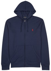 Polo Ralph Lauren Navy Hooded Cotton Blend Sweatshirt