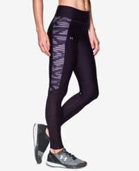 Under Armour Fly By Heatgear Running Leggings Imperial Purple Fresh Orchard