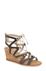 Dolce Vita Women's Lynnie Wedge Sandal Smoke Nubuck Leather
