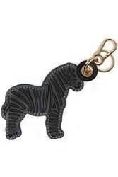 Loewe Woman Embossed Leather Keychain Black