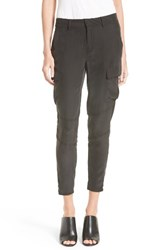 L'agence Women's Bevin Silk Crop Cargo Pants