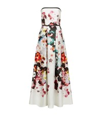 Elie Saab Bandeau Floral Gown Female White