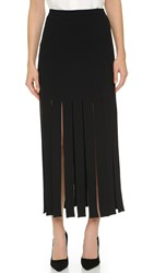 Tamara Mellon Wide Fringe Skirt Black