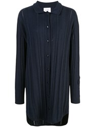 Barrie Long Cashmere Cardigan Blue