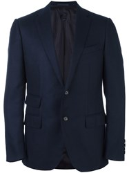 Caruso Flap Pocket Blazer Blue