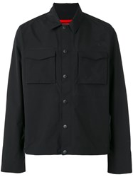 The North Face Button Up Shirt Jacket Black
