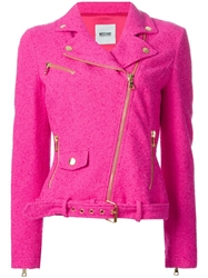 Moschino Cheap And Chic Tweed Biker Jacket