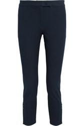 Joseph Finley Cropped Stretch Gabardine Slim Leg Pants Navy