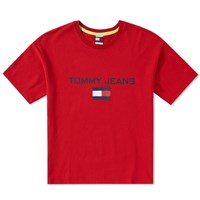 Tommy Jeans 5.0 'S 90S Logo Tee Red