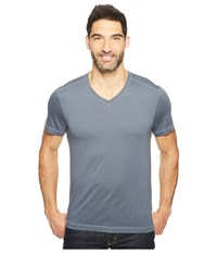 Agave Kerbox Short Sleeve V Neck Supima Modal Ombre Blue Men's Short Sleeve Pullover Navy
