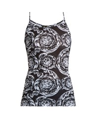 Versace Baroque Print Performance Top Black Print