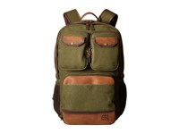Sts Ranchwear The Foreman Military Backpack Military Green Canvas Brown Leather Backpack Bags Olive