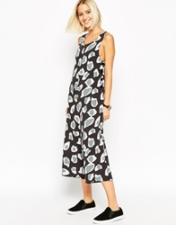 Asos Button Side Jumpsuit In Animal Print Multi