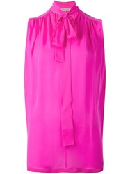 Emilio Pucci Tie Neck Tank Top Pink Purple