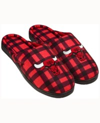 Forever Collectibles Chicago Bulls Flannel Slide Slippers Red