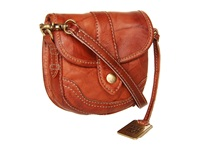 Frye Campus Mini Saddle Dakota Clutch Handbags Brown