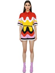 Emilio Pucci Patchwork Waves Milano Jersey Romper