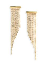 Michael Kors Chain Fringe Drop Earrings Gold