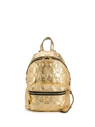 Moschino Teddy Quilted Backpack Gold