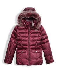 The North Face Gotham 2.0 Down Hooded Jacket W Faux Fur Trim Red Size Xxs Xl