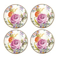 Mackenzie Childs Flower Market Canape Plate Set Of 4