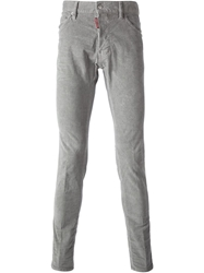 Dsquared2 'Cool Corduroy' Ribbed Jeans Grey