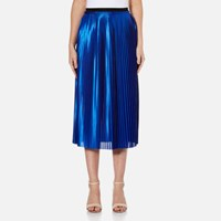 By Malene Birger Women's Miqiau Pleated Midi Skirt Cobalt Blue