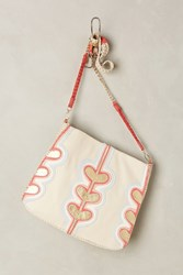 Anthropologie Heart Deco Tote Neutral