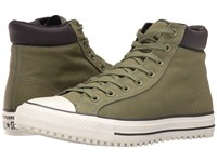 Converse Chuck Taylor All Star Boot Pc Shield Canvas Hi Fatigue Green Almost Black Egret Men's Lace Up Boots Olive