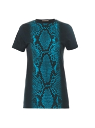 Christopher Kane Snake Print Striped T Shirt