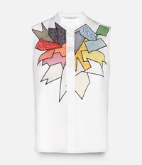 Christopher Kane Smash Motif Sleeveless Shirt White